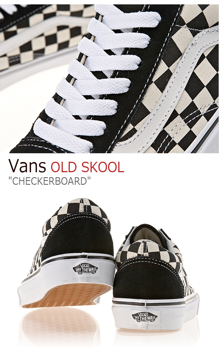 Vans old school sneakers Vans men gap Dis OLD SKOOL Primary Check Black White checkerboard primary check black white VN0A38G1P0S shoes