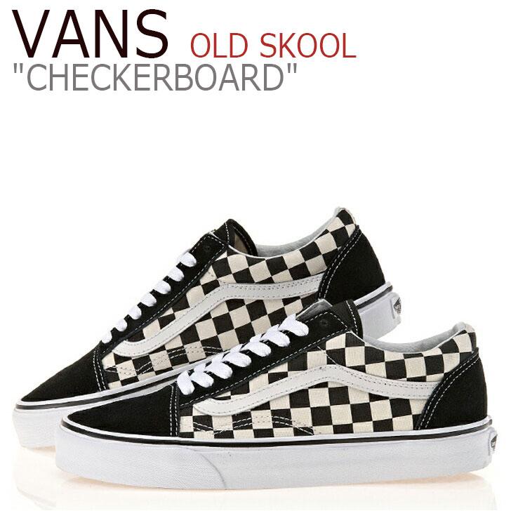 バンズ オールドスクール スニーカー Vans メンズ レディース OLD SKOOL Primary Check Black White チェッカーボード プライマリー チェック ブラック ホワイト VN0A38G1P0S シューズ