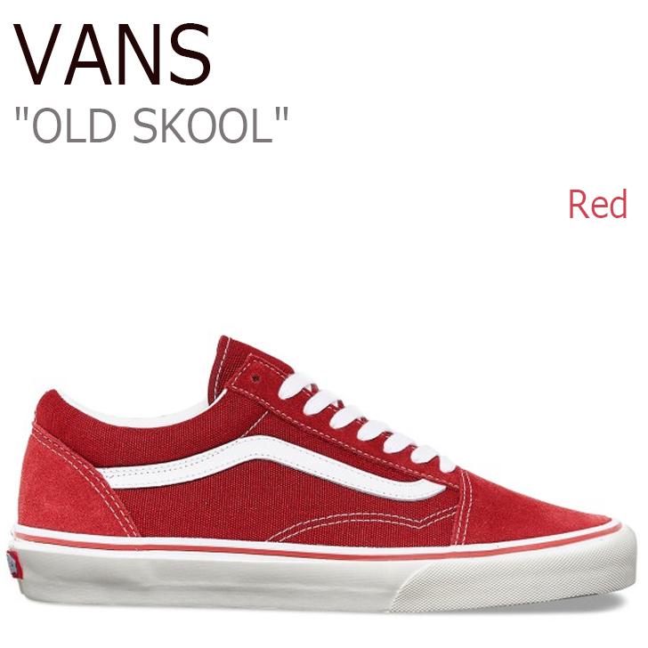 バンズ オールドスクール スニーカー VANS メンズ レディース OLD SKOOL RED レッド 赤 VN000VOKDIC シューズ