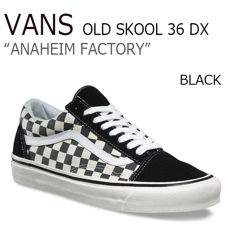 バンズ スニーカー VANS メンズ レディース OLD SKOOL 36 DX オールドスクール デラックス チェッカーボード CHECKERBOARD アナハイム ファクトリー ANAHEIM FACTORY ブラック BLACK VN0A38G2OAK シューズ