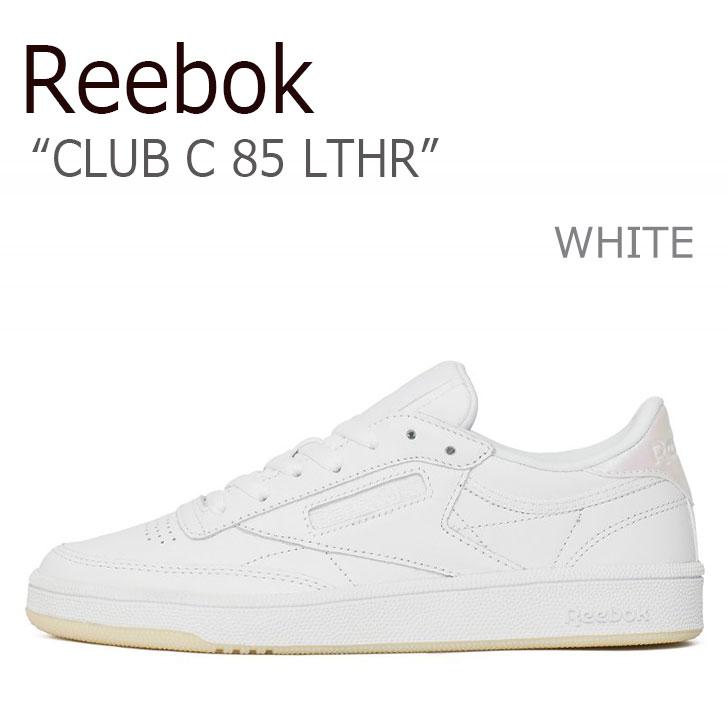 リーボック スニーカー REEBOK レディース CLUB C 85 LEATHER クラブ C 85 レザー PEARLWHITE WHITE パールホワイト ホワイト BS5163 シューズ