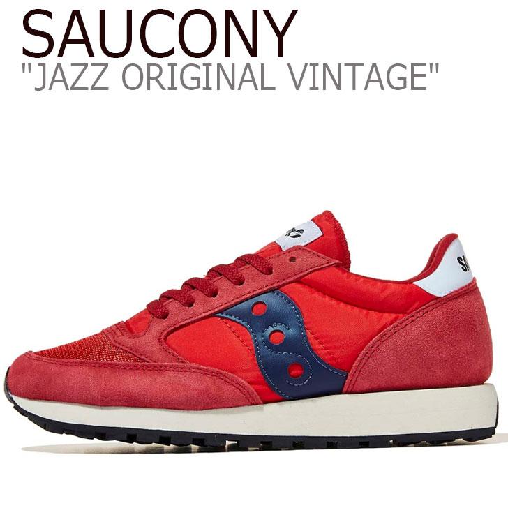 サッカニー ジャズオリジナル スニーカー SAUCONY メンズ JAZZ ORIGINAL VINTAGE ジャズ オリジナル ヴィンテージ RED レッド S70321-7 シューズ