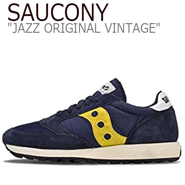 サッカニー ジャズオリジナル スニーカー SAUCONY メンズ JAZZ ORIGINAL VINTAGE ジャズ オリジナル ヴィンテージ NAVY ネイビー S70321-8 シューズ