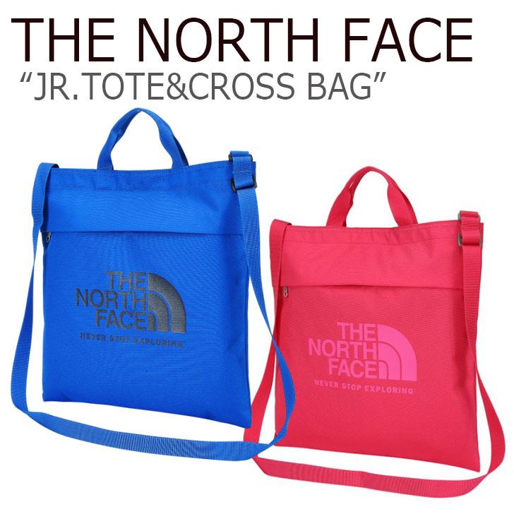 ノースフェイス トートバッグ THE NORTH FACE メンズ レディース JR.TOTE&CROSS BAG ジュニア トート & クロスバッグ PINK BLUE ピンク ブルー NN2PJ05R/S バッグ 【中古】未使用品