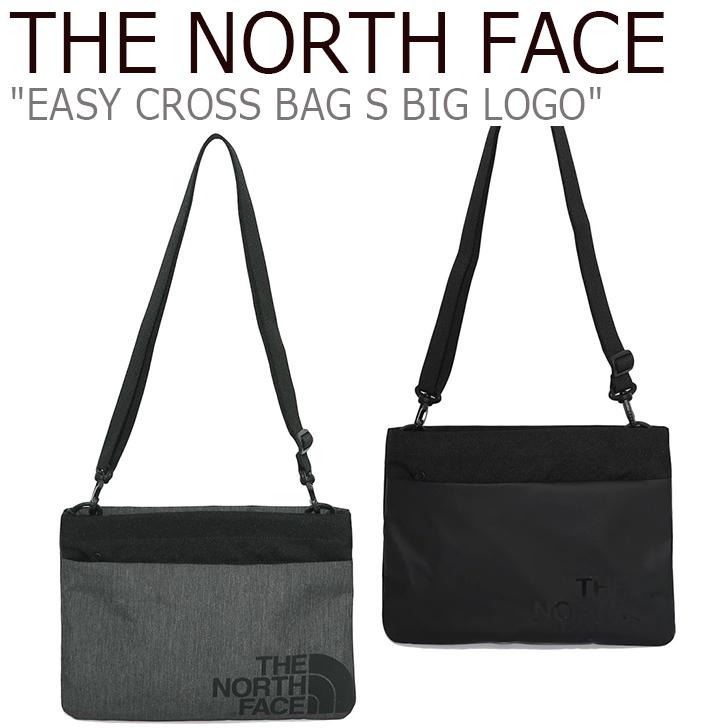 ノースフェイス サコッシュ THE NORTH FACE メンズ レディース EASY CROSS BAG S BIG LOGO イージー クロスバッグS ビッグロゴ MELANGE GREY BLACK グレー ブラック NN2PK06J/K バッグ 【中古】未使用品