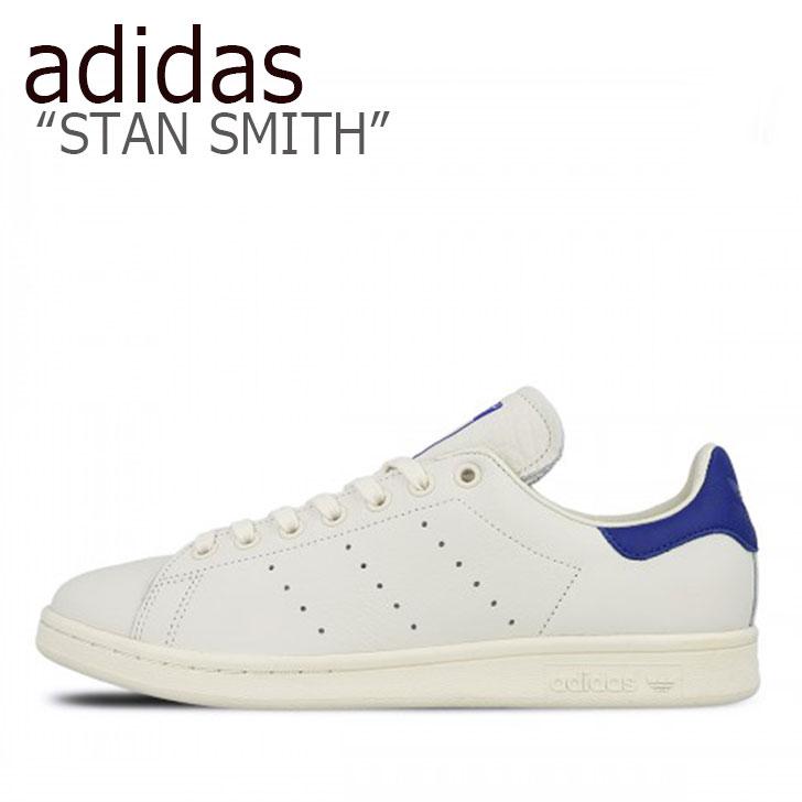 アディダス スタンスミス スニーカー adidas メンズ レディース STAN SMITH スタンスミス WHITE BLUE ホワイト ブルー B37899 シューズ 【中古】未使用品