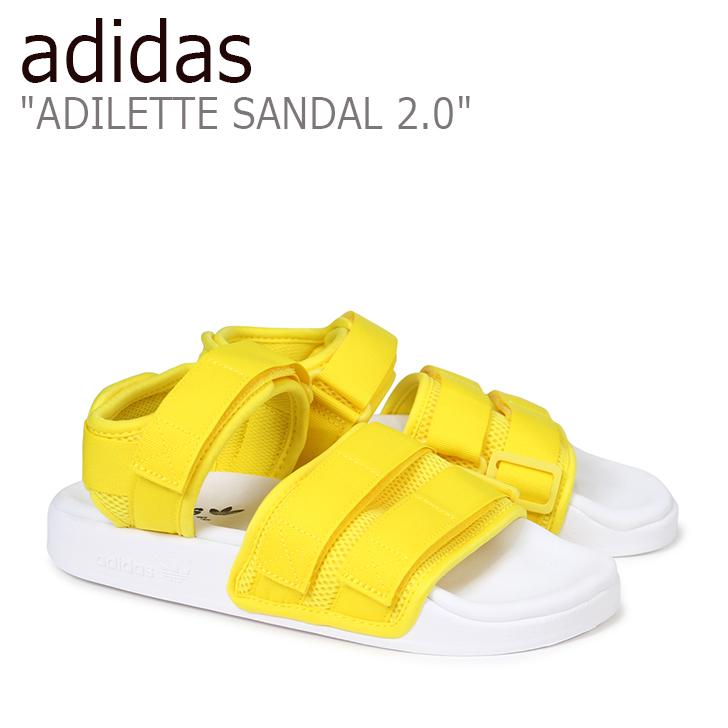 アディダス アディレッタ サンダル adidas メンズ レディース ADILETTE SANDAL 2.0 アディレッタサンダル YELLOW イエロー CQ2673 シューズ 【中古】未使用品