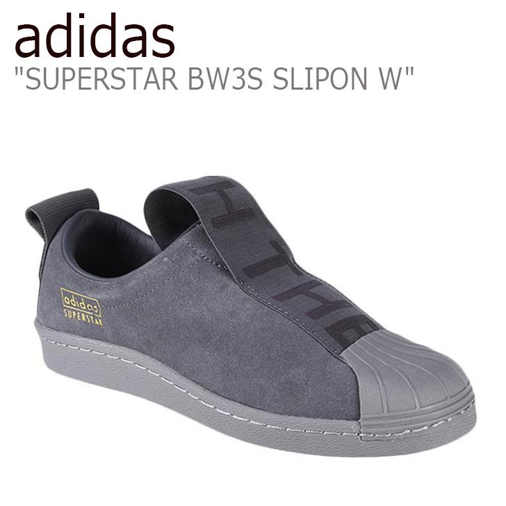 アディダス スーパースター スニーカー adidas メンズ レディース スリッポン ウィメンズ SUPERSTAR BW3S SLIPON W BLACK ブラック CG3695 シューズ 【中古】未使用品