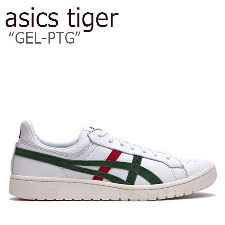 アシックスタイガー スニーカー asics tiger メンズ レディース GEL-PTG ゲルポイントゲッター WHITE GREEN RED ホワイト グリーン レッド FLAC9A1U10 シューズ