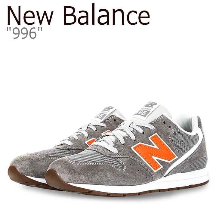 ニューバランス 996 スニーカー New Balance メンズ レディース ニューバランス996 GRAY ORANGE グレー オレンジ MRL996JD シューズ 【中古】未使用品