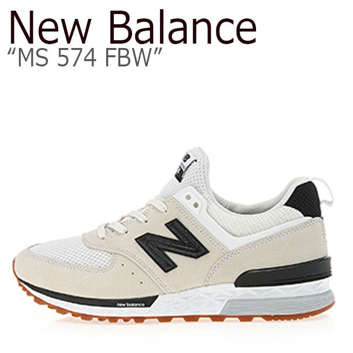 ニューバランス 574 スニーカー New Balance メンズレディース MS 574 FBW New Balance574 WHITE ホワイト MS574FBW シューズ 【中古】未使用品