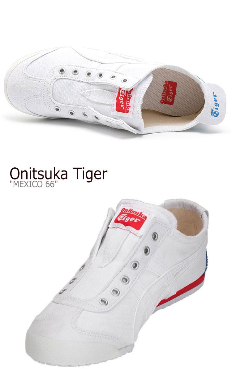buy popular ce695 6baa6 Onitsuka tiger Mexico 66 sneakers Onitsuka Tiger men gap Dis MEXICO 66  SLIP-ON Mexico 66 slip-ons WHITE white D3K0N-100 shoes