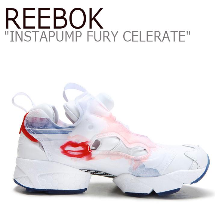 Reebok INSTAPUMP FURY CELERATE T WTH/RED/BLUE/PNK/SLVR【リーボック】【インスタ ポンプフューリー】【V69142】 シューズ