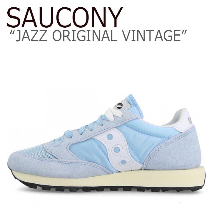 サッカニー ジャズオリジナル スニーカー SAUCONY レディース JAZZ ORIGINAL VINTAGE ジャズ オリジナル ヴィンテージ BLUE WHITE ブルー ホワイト S60368-41 シューズ