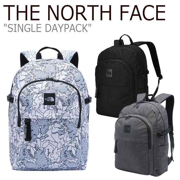 ノースフェイス バックパック THE NORTH FACE メンズ レディース SINGLE DAYPACK シングル デイパック リュック WHITE CHARCOAL BLACK ホワイト チャコール ブラック NM2DJ06J/K/L バッグ 【中古】未使用品