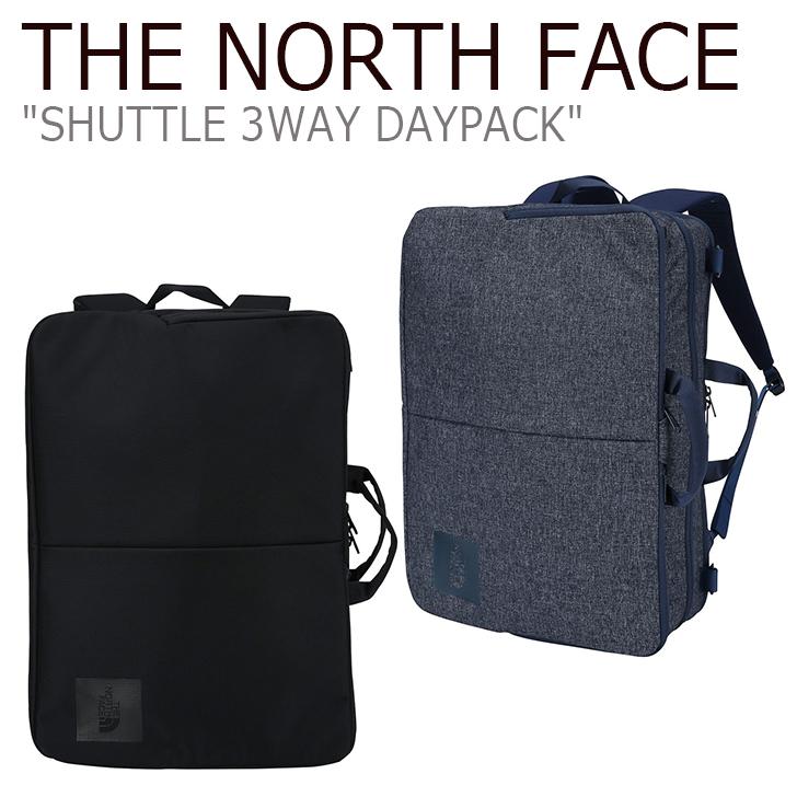 ノースフェイス バックパック THE NORTH FACE メンズ レディース SHUTTLE 3WAY DAYPACK シャトル 3ウェイ デイパック ビジネスバッグ NAVY BLACK ネイビー ブラック NM2DJ30A/B バッグ 【中古】未使用品