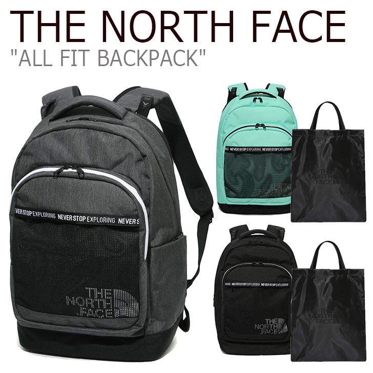 ノースフェイス バックパック THE NORTH FACE メンズ レディース ALL FIT BACKPACK オールフィットバックパック MINT CHARCOAL BLACK ミント チャコール ブラック NM2DK03J/K/L バッグ 【中古】未使用品