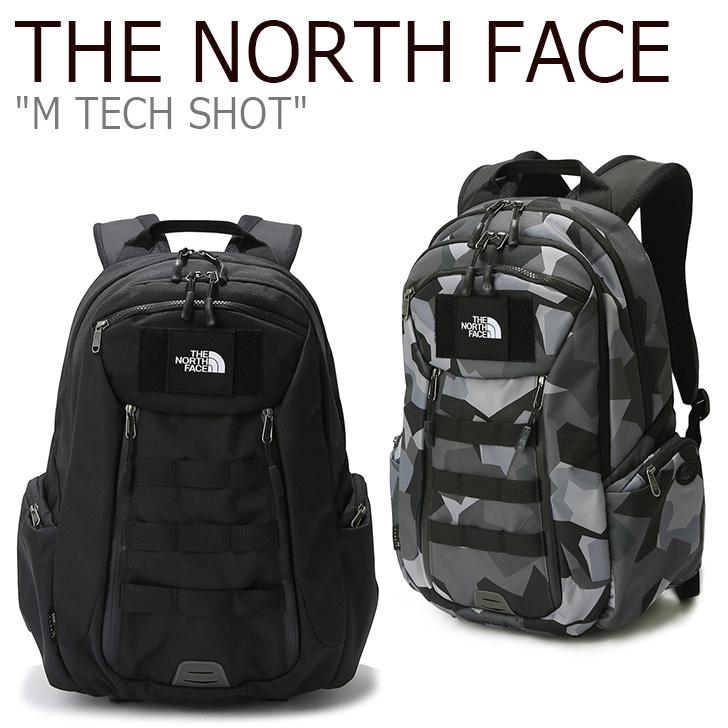 ノースフェイス バックパック THE NORTH FACE メンズ レディース M TECH SHOT テク ショット GRAY BLACK グレー ブラック NM2DK07A/B バッグ 【中古】未使用品