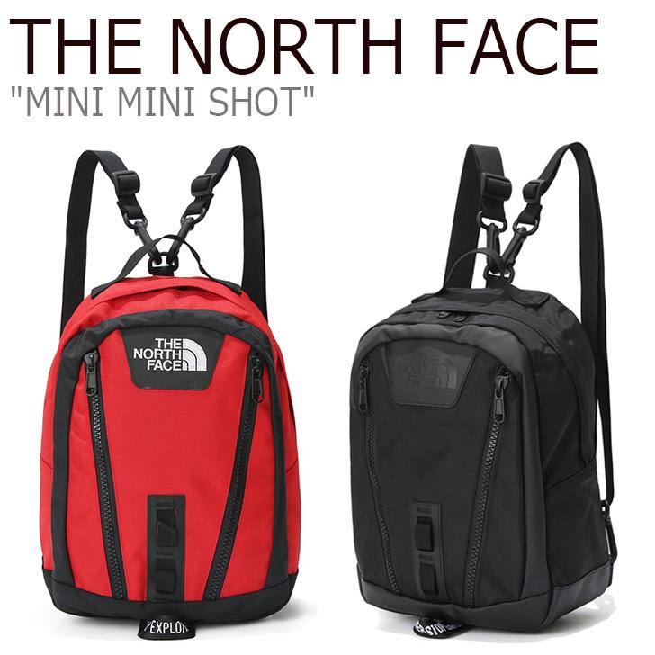 ノースフェイス バックパック THE NORTH FACE メンズ レディース MINI MINI SHOT ミニミニ ショット リュック RED BLACK レッド ブラック NM2DK61A/B バッグ 【中古】未使用品