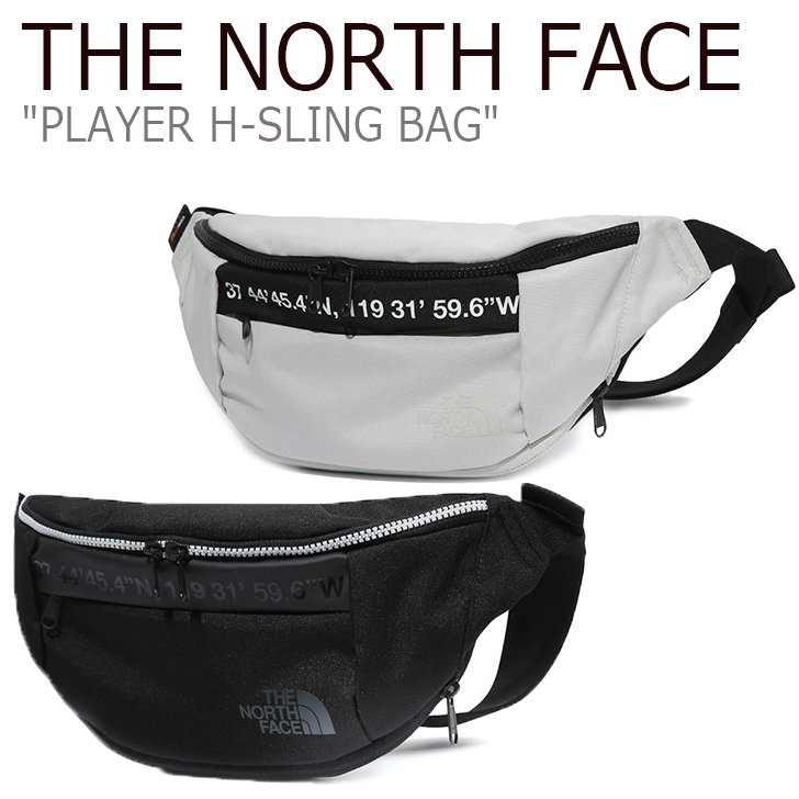 ノースフェイス ウエストポーチ THE NORTH FACE メンズ レディース PLAYER H-SLING BAG プレイヤー Hスリング バッグ ヒップバッグ アイボリー ブラック IVORY BLACK NN2HK07J/K バッグ 【中古】未使用品