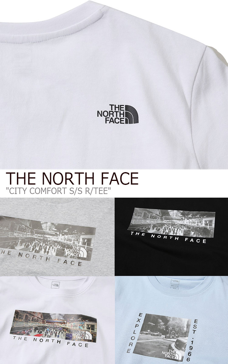 feae94529 North Face T-shirt THE NORTH FACE men gap Dis CITY COMFORT S/S R/TEE city  comfort short sleeve round T short sleeves WHITE GRAY BLUE BLACK white gray  ...