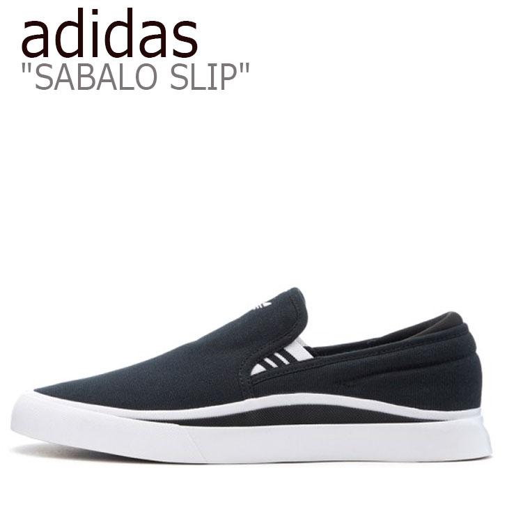 アディダス スニーカー adidas メンズ レディース SABALO SLIP サバロ スリップ BLACK ブラック WHITE ホワイト EE6130 シューズ 【中古】未使用品
