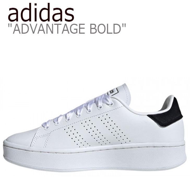 アディダス スニーカー adidas レディース ADVANTAGE BOLD アドバンテージ ボールド WHITE ホワイト BLACK ブラック EF1034 シューズ 【中古】未使用品