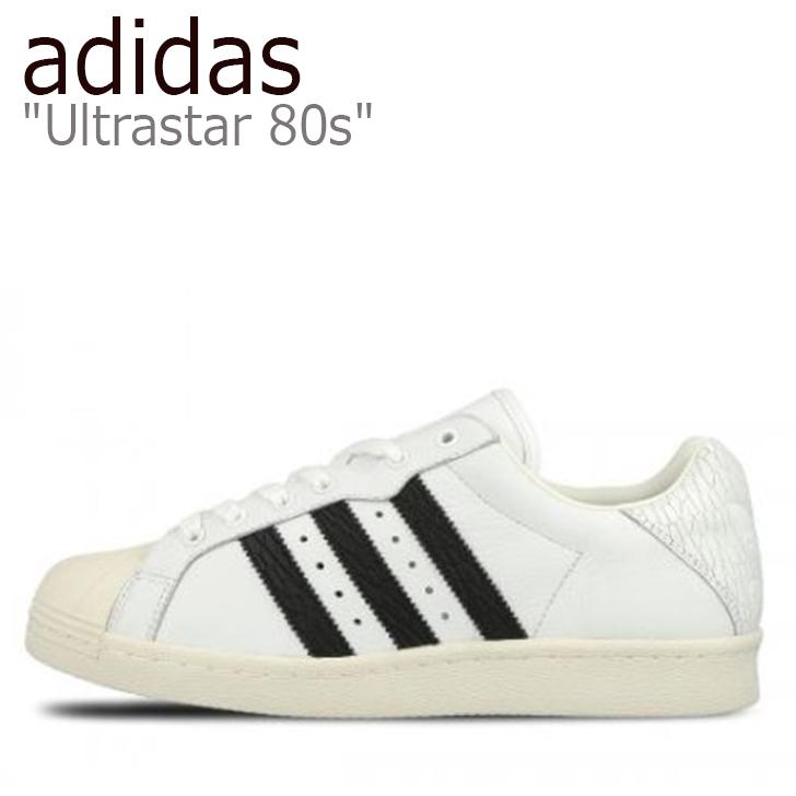アディダス スニーカー adidas レディース Ultrastar 80s ウルトラスター80s White Core Black Off White ホワイト ブラック オフホワイト BB0171 シューズ 【中古】未使用品