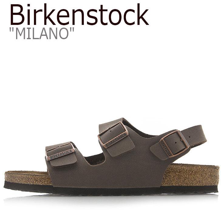 ビルケンシュトック サンダル BIRKENSTOCK メンズ MILANO ミラノ MOCCA モカ 634501 シューズ 【中古】未使用品