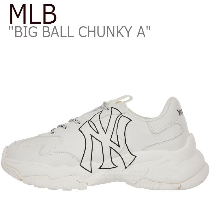 エムエルビー スニーカー MLB メンズ レディース BIG BALL CHUNKY A ビッグ ボール チャンキー A WHITE ホワイト NEW YORK YANKEES ニューヨークヤンキース 32SHC1911-50I 32SHC1941-50I 32SHC1011-50I シューズ