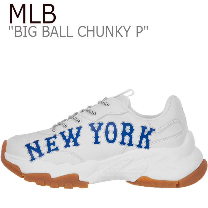 エムエルビー スニーカー MLB メンズ レディース BIG BALL CHUNKY P ビッグ ボール チャンキー P WHITE ホワイト NEW YORK YANKEES ニューヨークヤンキース 32SHC2911-50N シューズ