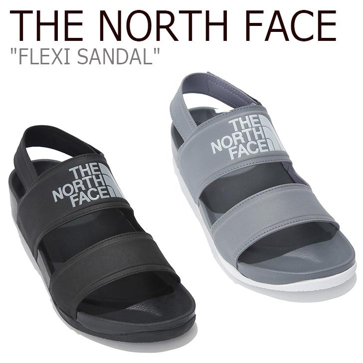 ノースフェイス サンダル THE NORTH FACE メンズ レディース FLEXI SANDAL フレクシーサンダル ホワイトレーベル BLACK GRAY ブラック グレー NS98K02A/B/J/K シューズ 【中古】未使用品