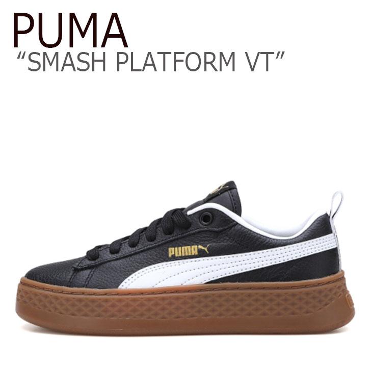 プーマ スニーカー PUMA レディース SMASH PLATFORM VT スマッシュ プラットフォーム VT BLACK ブラック 36692603 シューズ 【中古】未使用品