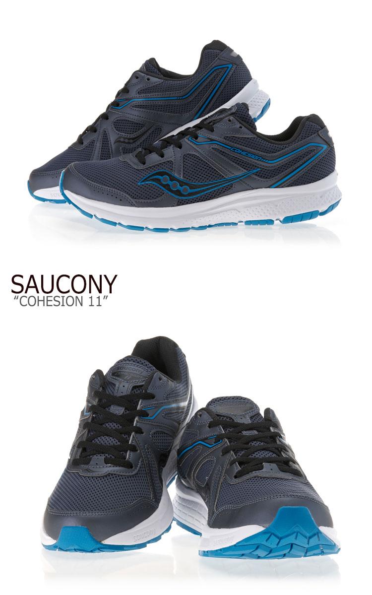 サッカニー スニーカー SAUCONY メンズ COHESION 11 コヒージョン 11 GREY BLUE グレー ブルー S20420 2 シューズy6Ybf7g