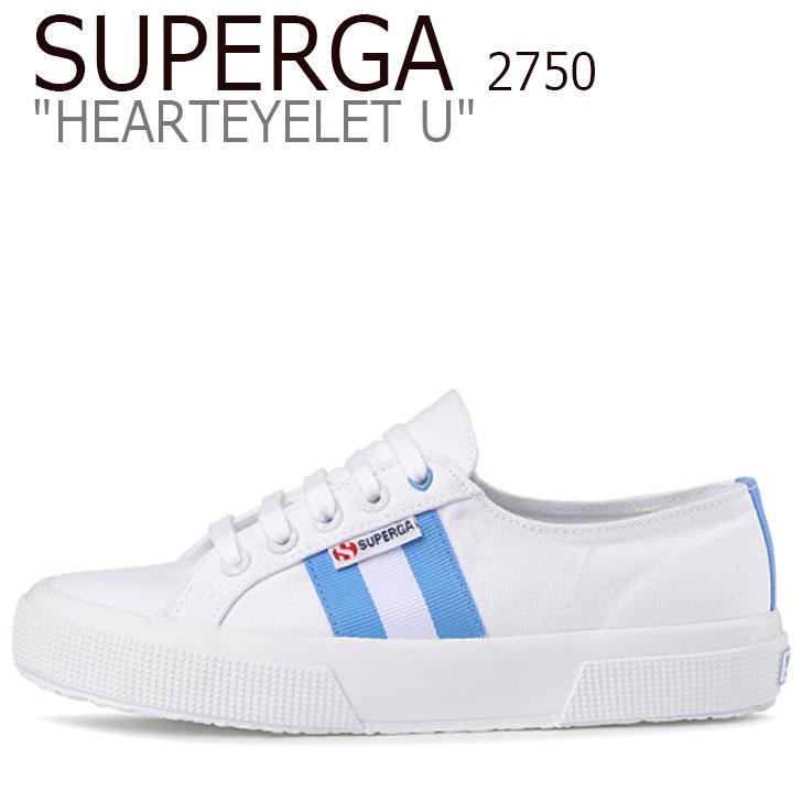 スペルガ スニーカー SUPERGA レディース 2750 HEARTEYELET U 2750 ハートアイレット U WHITE ホワイト BLUE ブルー S00G2W0 904 シューズ
