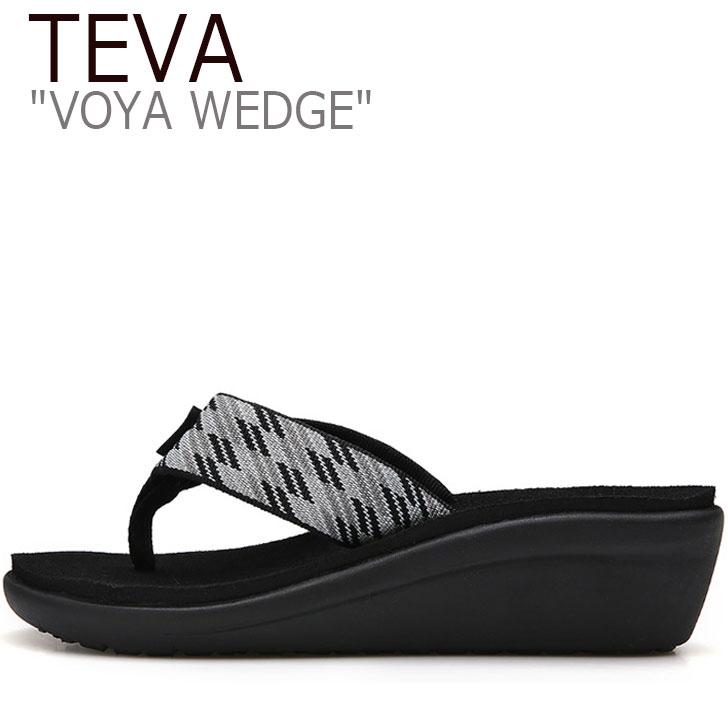 テバ ボヤ サンダル TEVA レディース VOYA WEDGE ボヤウェッジ 厚底 NITRO BLACK ブラック 1019043-NBWT シューズ
