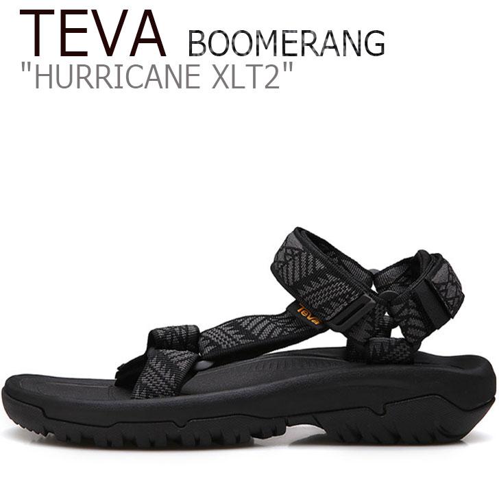 テバ ハリケーン サンダル TEVA レディース HURRICANE XLT2 BOOMERANG ハリケーンXLT2 ブーメラン BLACK ブラック 1019235-BNBK シューズ