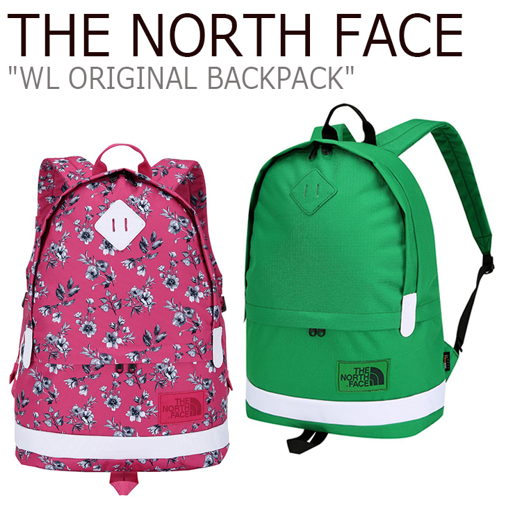 ノースフェイス バックパック THE NORTH FACE メンズ レディース WL ORIGINAL BACKPACK オリジナルバックパック リュック PINK GREEN ピンク グリーン NM2DJ04L/M バッグ 【中古】未使用品