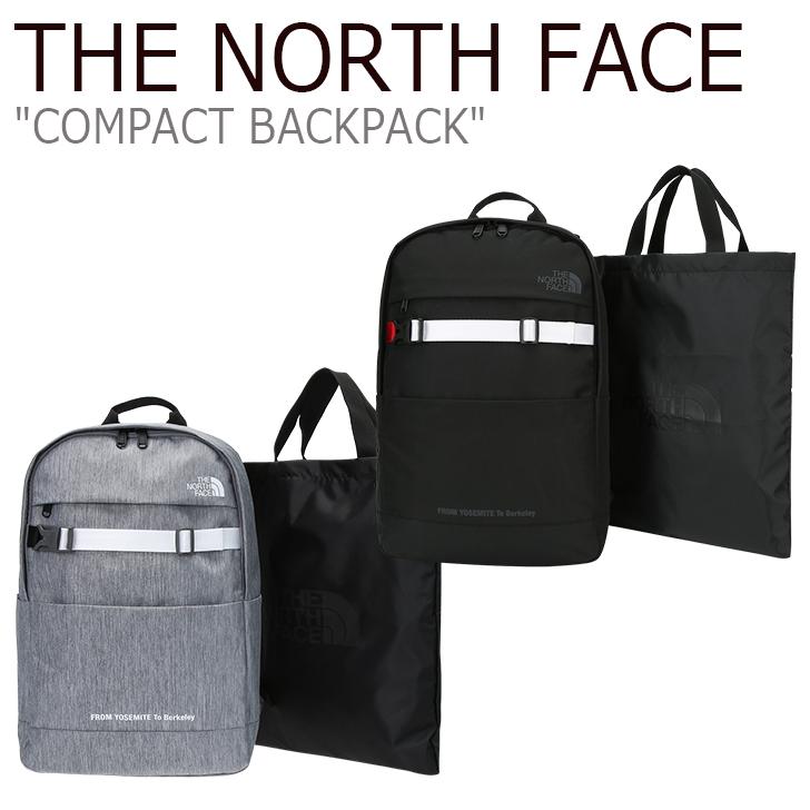 ノースフェイス バックパック THE NORTH FACE メンズ レディース COMPACT BACKPACK コンパクトバックパック MELANGE GRAY BLACK グレー ブラック NM2DJ05J/K バッグ 【中古】未使用品