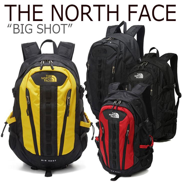 ノースフェイス バックパック THE NORTH FACE メンズ レディース BIG SHOT ビッグショット デイパック BLACK RED YELLOW CHARCOAL ブラック レッド イエロー チャコール NM2DK04A/B/C NM2DK55A/C バッグ 【中古】未使用品