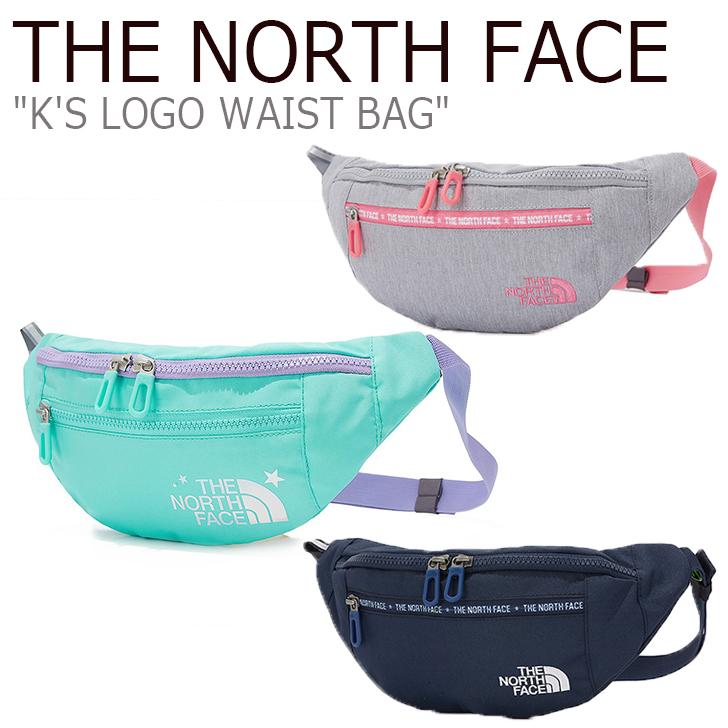 ノースフェイス ウエストポーチ THE NORTH FACE キッズ K'S LOGO WAIST BAG ロゴ ウエストバッグ MELANGE GRAY NAVY グレー ネイビー NN2HK50S/T バッグ 【中古】未使用品