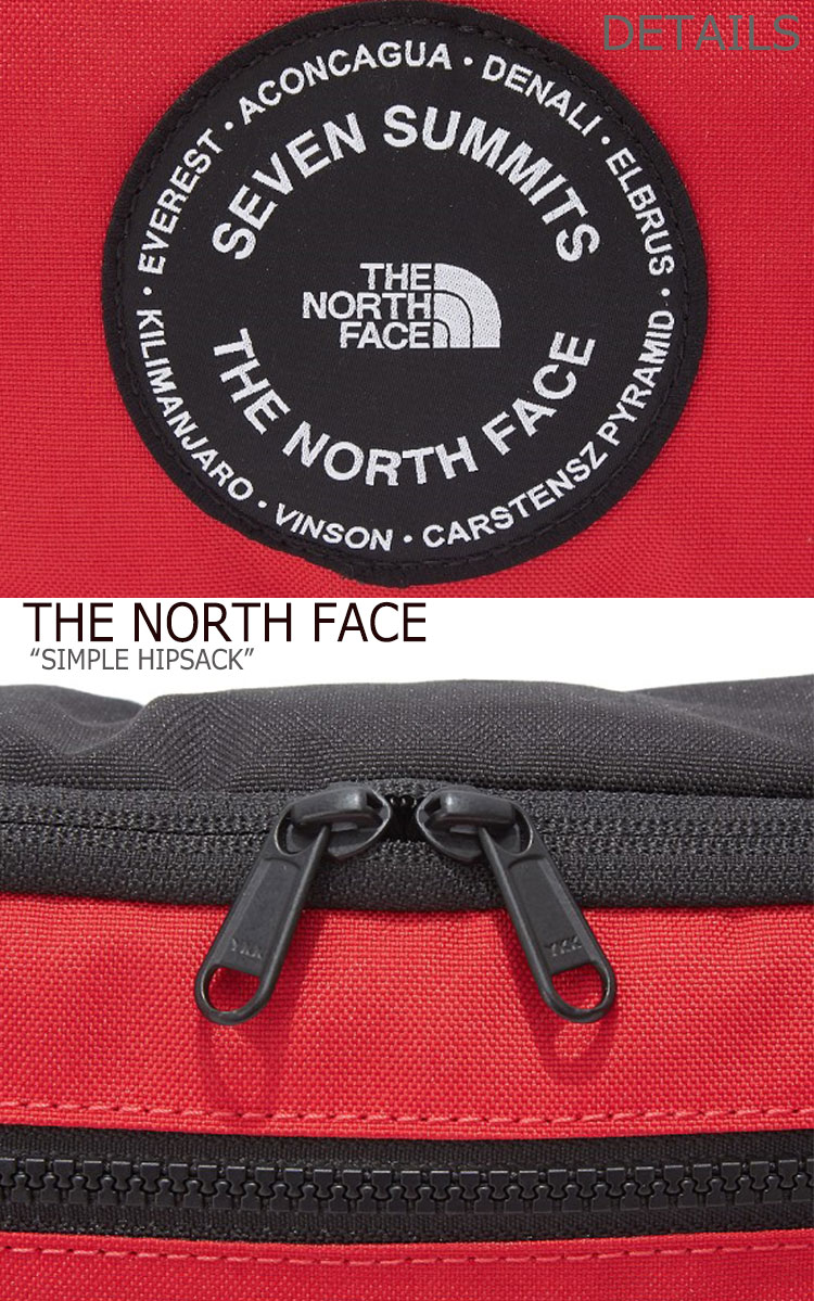 ノースフェイス ウエストポーチ THE NORTH FACE メンズ レディース SIMPLE HIPSACK シンプル ヒップサック BLACK RED YELLOW ブラック レッド イエロー NN2HK53A B C バッグ未使用品qUzpMSV