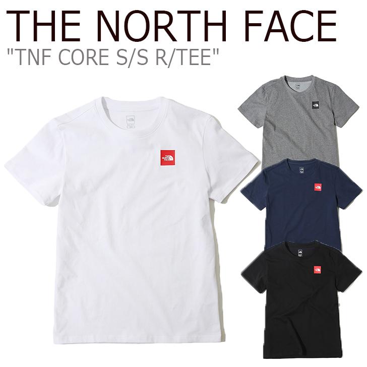 ノースフェイス Tシャツ THE NORTH FACE メンズ TNF CORE S/S R/TEE コア ショートスリーブ ラウンドT スクエアロゴ 半袖 WHITE GRAY NAVY BLACK ホワイト グレー ネイビー ブラック NT7UK07A/B/C/D ウェア 【中古】未使用品