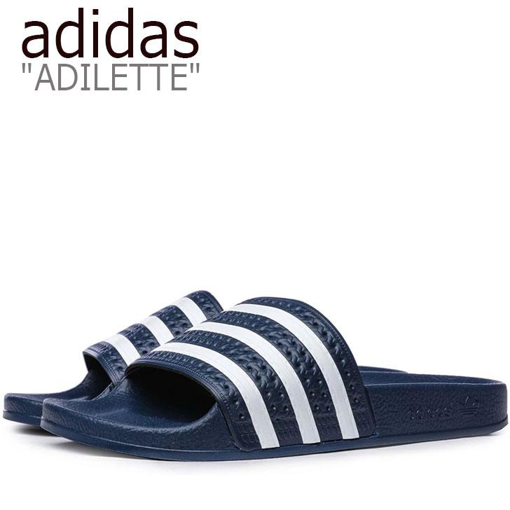 アディダス サンダル adidas メンズ レディース ADILETTE SANDAL アディレッタ サンダル NAVY ネイビー 288022 シューズ 【中古】未使用品