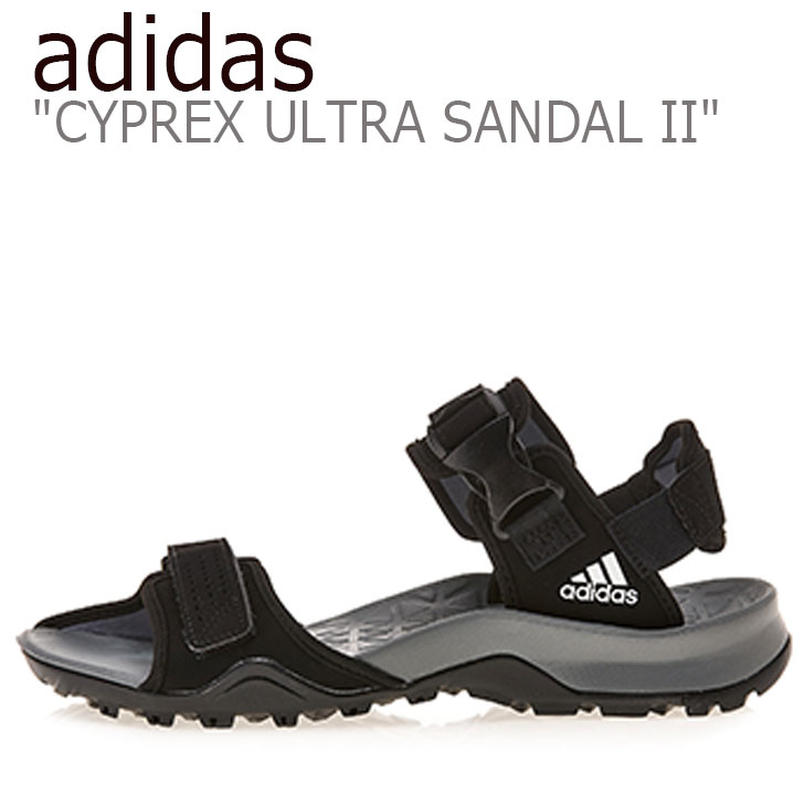 アディダス サンダル adidas メンズ CYPREX ULTRA SANDAL II テレックス サイプレックス ウルトラサンダル2 CORE BLACK コアブラック B44191 シューズ 【中古】未使用品