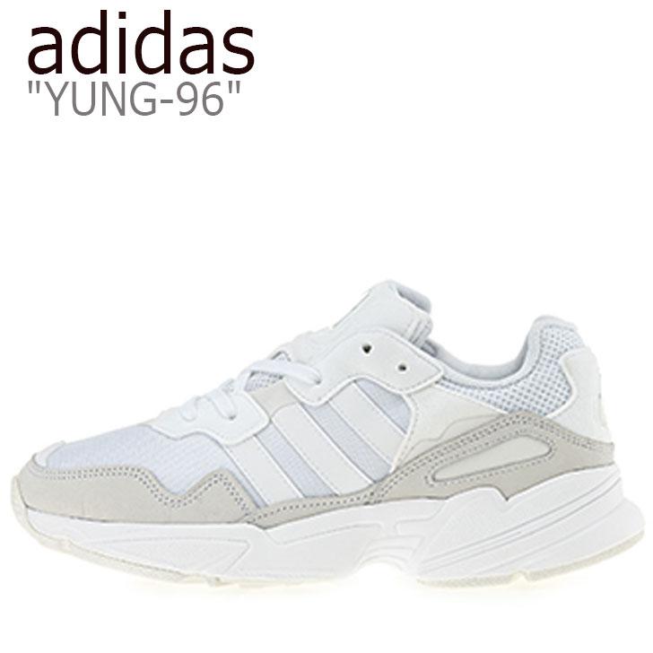 アディダス スニーカー adidas メンズ レディース YUNG-96 ヤング 96 WHITE ホワイト EE3682 シューズ 【中古】未使用品