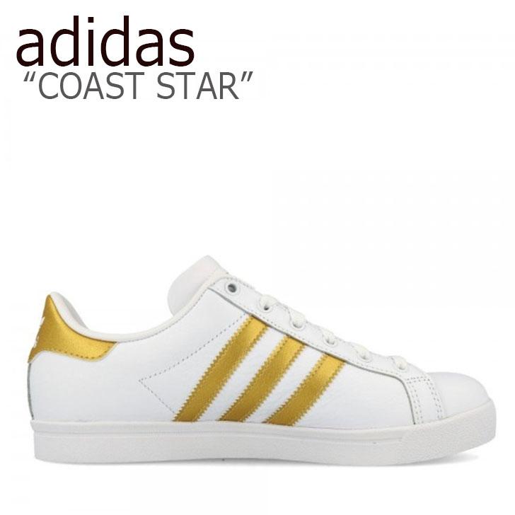 アディダス スニーカー adidas メンズ レディース COAST STAR コーストスター WHITE GOLD ホワイト ゴールド EE6200 シューズ 【中古】未使用品
