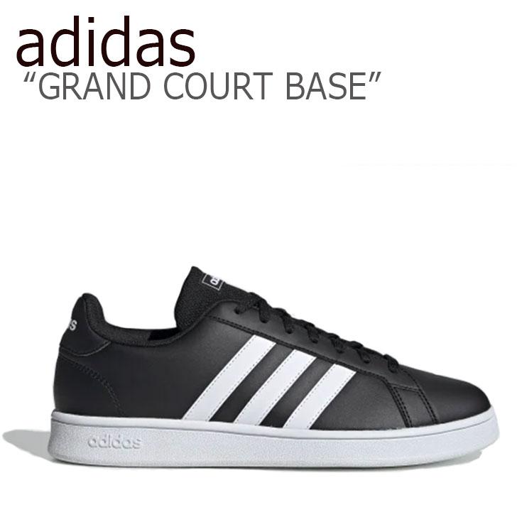 アディダス スニーカー adidas メンズ レディース GRAND COURT BASE グランドコートベース BLACK WHITE ブラック ホワイト EE7900 シューズ 【中古】未使用品