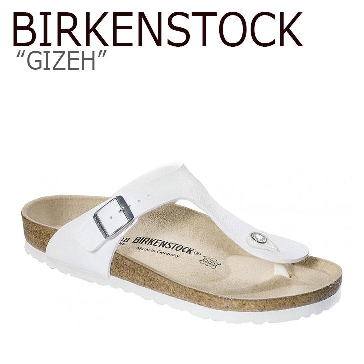 ビルケンシュトック サンダル BIRKENSTOCK メンズ GIZEH ギゼ WHITE ホワイト 043731 シューズ 【中古】未使用品
