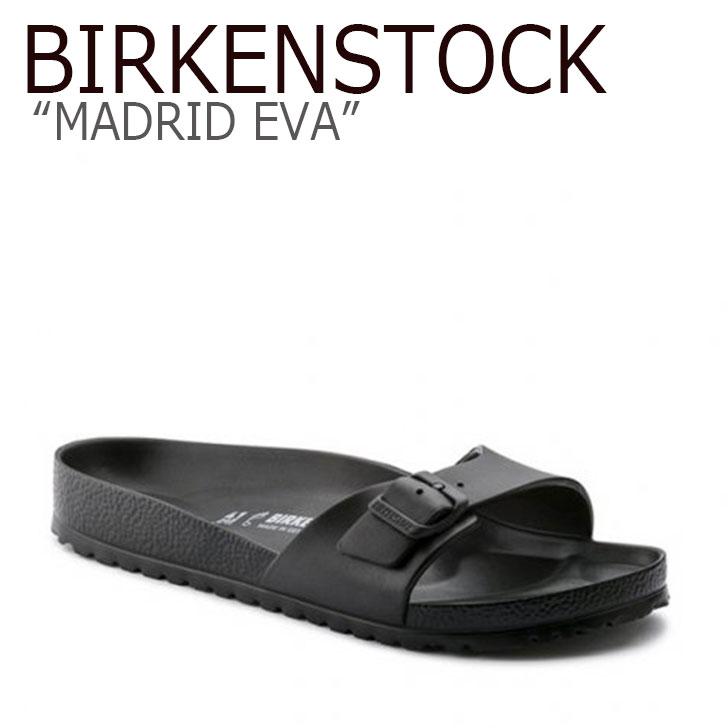 ビルケンシュトック サンダル BIRKENSTOCK メンズ MADRID EVA マドリッド エヴァ BLACK ブラック 128161 シューズ 【中古】未使用品